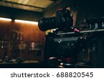 camera dslr is shooting with... | Shutterstock . vector #688820545