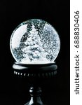 Transparent Snow Globe With...