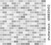 brick wall pattern. seamless...   Shutterstock .eps vector #688835452