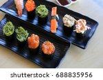 sushi rice mold wasabi japanese ... | Shutterstock . vector #688835956