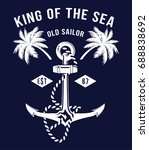 anchor. vintage label with an... | Shutterstock .eps vector #688838692
