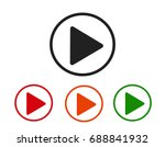 play icons.arrow sign icon.... | Shutterstock . vector #688841932