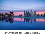panorama of dubai marina at...