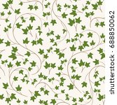 seamless ivy pattern. endless... | Shutterstock .eps vector #688850062