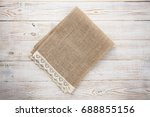 burlap hessian sacking on white ... | Shutterstock . vector #688855156