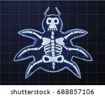 cartoon image of computer bug... | Shutterstock . vector #688857106