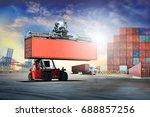 logistics import export... | Shutterstock . vector #688857256