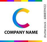 letter c logo design. abstract... | Shutterstock .eps vector #688859422