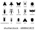 insect black pictogram. beetle... | Shutterstock .eps vector #688861822