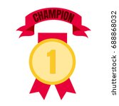medal icon for first place in...