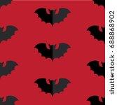 halloween seamless pattern... | Shutterstock .eps vector #688868902