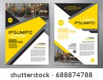 business brochure. flyer design.... | Shutterstock .eps vector #688874788