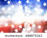 Abstract American Star For...