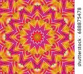 colorful symmetrical pattern... | Shutterstock . vector #688875478