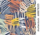 modern grunge brush seamless...   Shutterstock .eps vector #688878205