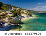 samos island  greece   may 22 ... | Shutterstock . vector #688879606