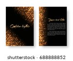 bling background with christmas ... | Shutterstock .eps vector #688888852
