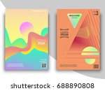 set of colorful geometric... | Shutterstock .eps vector #688890808