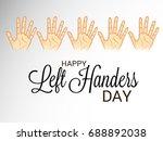 vector illustration of a banner ... | Shutterstock .eps vector #688892038