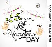 vector illustration of a banner ... | Shutterstock .eps vector #688892068