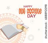 vector illustration of a banner ... | Shutterstock .eps vector #688892098