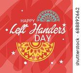 vector illustration of a banner ... | Shutterstock .eps vector #688892662