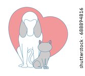 dog animal icon | Shutterstock .eps vector #688894816