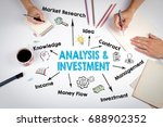 analysis and investment concept.... | Shutterstock . vector #688902352