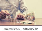 save money for retirement and... | Shutterstock . vector #688902742