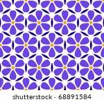 seamless vector floral... | Shutterstock .eps vector #68891584