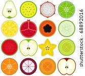 vector of fresh fruit ...   Shutterstock .eps vector #68892016