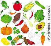 vector of fruit  vegetable  ... | Shutterstock .eps vector #68892037