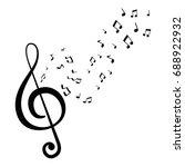 music note symbol | Shutterstock .eps vector #688922932