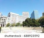 downtown oakland  california... | Shutterstock . vector #688923592