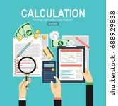 calculation concept.... | Shutterstock .eps vector #688929838