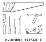 woodworker tools technical...   Shutterstock .eps vector #688933546