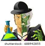 doctor jekyll and mister hyde... | Shutterstock .eps vector #688942855