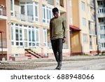 handsome and attractive african ... | Shutterstock . vector #688948066