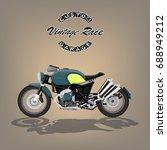 vintage motorcycle poster... | Shutterstock .eps vector #688949212