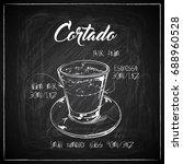 hand drawn coffee illustration... | Shutterstock .eps vector #688960528