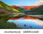 Alpenglow At Sunset  Piney Lak...