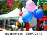 Colorful Bunting  Balloons And...