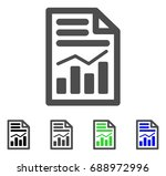 charts page flat vector... | Shutterstock .eps vector #688972996