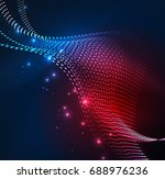 vector wave particles... | Shutterstock .eps vector #688976236