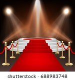 realistic vector red event... | Shutterstock .eps vector #688983748