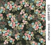 seamless abstract floral...   Shutterstock .eps vector #688991875