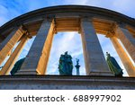 millennium monument on the... | Shutterstock . vector #688997902