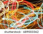 lighting effect  colored lines... | Shutterstock . vector #689003362