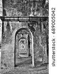 old aqueduct at nanzen ji temple | Shutterstock . vector #689005042