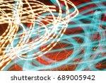lighting effect  lines in... | Shutterstock . vector #689005942